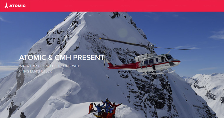 ENTER to WIN at Heli Ski Adventure with CMH Heliskiing and Atomic Skis